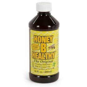 Feeding Stimulant with Essential Oils. Use during late winter, early spring, fall or dearth of nectar. Also, spraying on new plastic foundation encourages acceptance. Feed with honey supers removed. Mix with sugar water. One teaspoon of Honey B Healthy pe