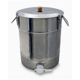 This product does not ship via ups or FedEx. Before placing your order, please call 1-800-456-7923 to discuss shipping options. SS Honey Storage Tank with plasic Gate - 110lb Capacity