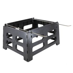 """Raises hives 12"""" off the ground, providing better ventilation, thus preventing rotting of bottom boards. Heavy-duty rails for total support and swing-out frame holders on each side. Some assembly required."""