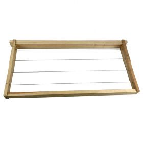 Wooden frames with wired foundation is the preferred combination of frames & foundation for traditional beekeepers. However, due to how time-consuming and laborious it can be to install and wire 100% beeswax foundation onto wooden frames, th