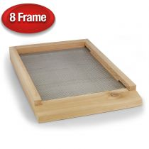 """These 8-frame screened bottom boards are made out of premium kiln-dried 3/4"""" western cedar. Kiln drying ensures consistent moisture levels in cedar which minimizes warping and cracking. Cedar contains natural tannins that protect against decay and rot so"""