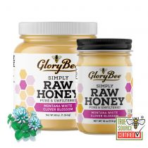 Our Raw Montana White Clover Honey comes from isolated areas near the pristine Rocky Mountains, harvested from native wildflowers and sweet clovers. Bees have access to pure water and clean air which creates a mild, creamy honey with a distinctive Montana