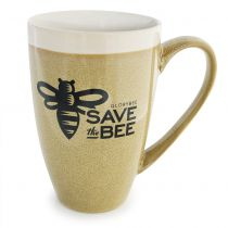 Show your support for Save the Bee while enjoying your favorite beverage of choice. This mug holds 12 oz.