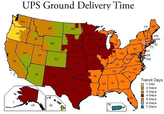 UPS Ground Delivery Times